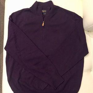 Brooks Brothers 100% Wool Half Zipper Sweater